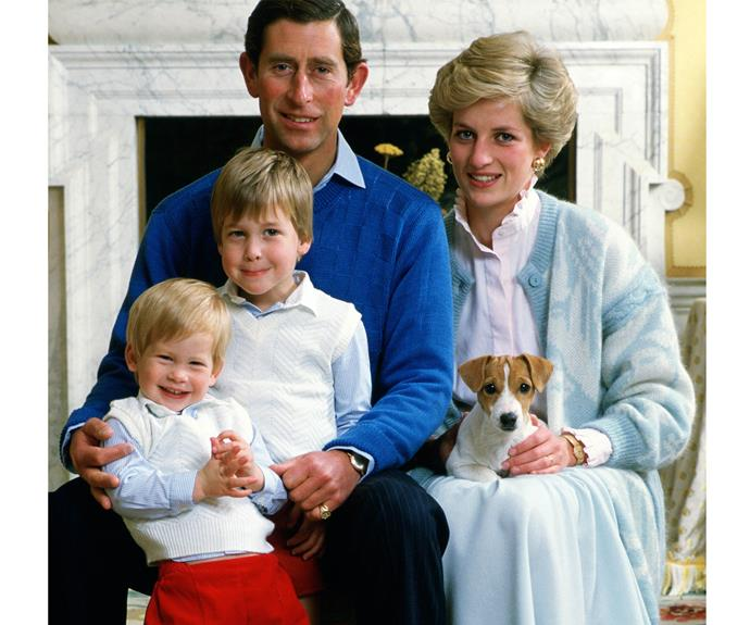 A 1986 family photo shows the young family all together at home in Kensington Palace.