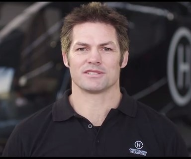 Richie McCaw stars in safety video for Christchurch Helicopters