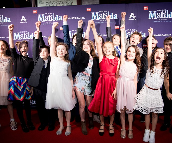 Some of the young cast of *Matilda*.