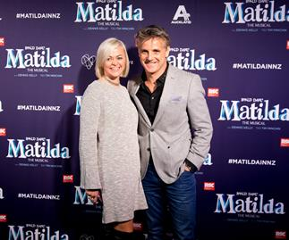 Shane Cortese and Nerida Cortese at Matilda the Musical