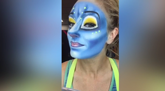 Watch Cirque Du Soleil performer's makeup transformation