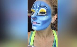 Watch Cirque Du Soleil performer's makeup transformation