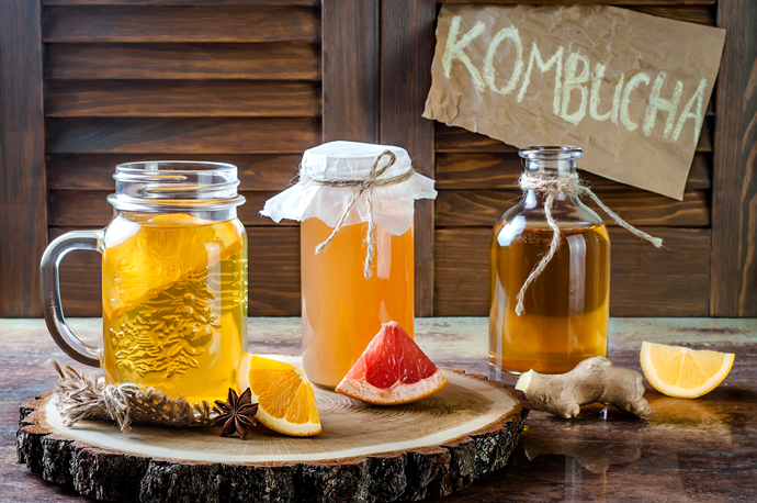 If you get tired of water, make your own kombucha (fermented black or green tea) or sip coconut water. Even adding a squeeze of lime juice or a bunch of mint to your water can make rehydrating less of a chore.