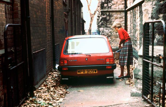 Her wee Austin Metro was swapped for a royal escort once her relationship with Charles escalated.