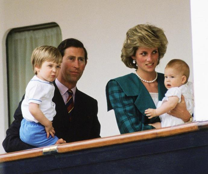 The family were often pictured while undertaking their public duties as royals.