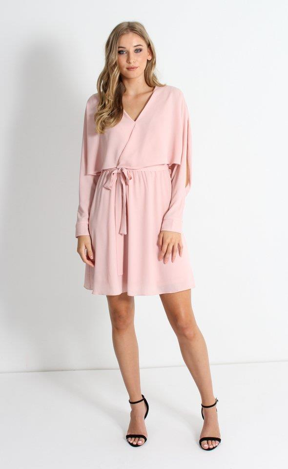 """Shop her look at [Pagani](https://www.pagani.co.nz/clothing/dresses/casual/textured-cdc-cape-dress-60955?v=21768521