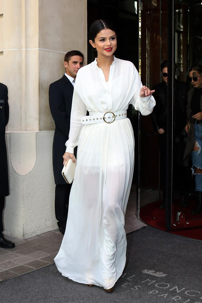 Selena Gomez was Parisian chic stepping out in France.