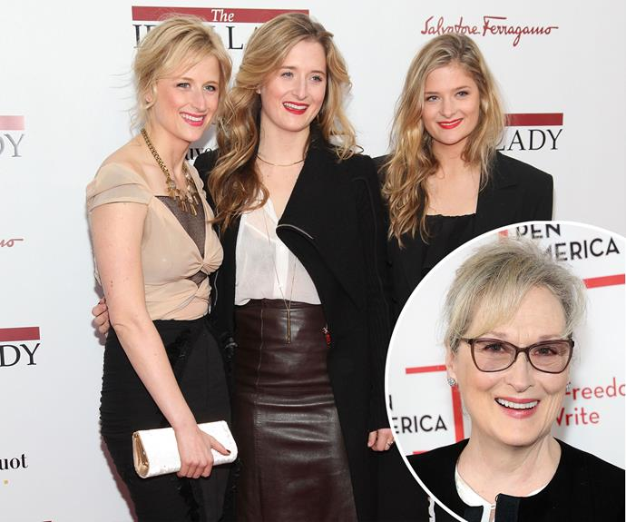 Meryl Streep's daughters Mamie, Grace and Louisa all share a resemblance with the Oscar-winning star.