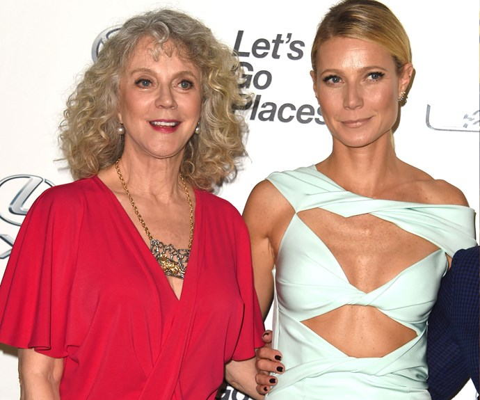 Gwyneth gets her good looks from mum Blythe Danner.