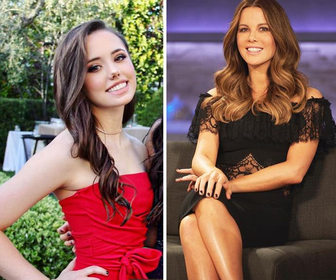 Kate Beckinsale's daughter Lily (from her previous relationship with actor Michael Sheen) looks more and more like her famous mother as she grows up!