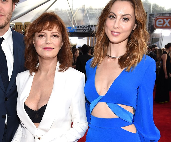 Susan Sarandon's daughter Eva Amurri Martino shares her mother's distinctive features.