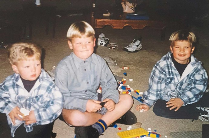 The brothers back in their younger days.