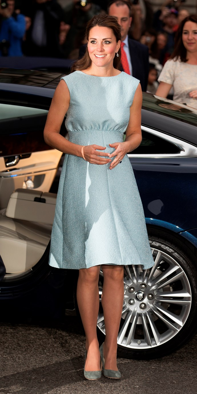 In April 2013, wearing an Emilia Wickstead dress, the royal attended a gala event at the National Portrait Gallery.