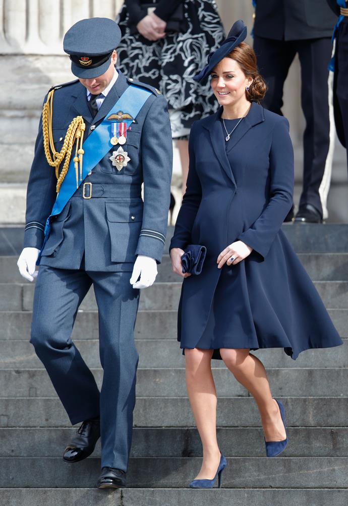 Kate opted for an all-blue ensemble at the St Paul's Cathedral service of commemoration in March 2015.