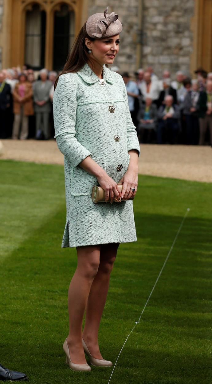 Wearing a Mulberry tweed coat, Kate was impeccably dressed as always at the National Review of Queen's Scouts celebration in 2013.