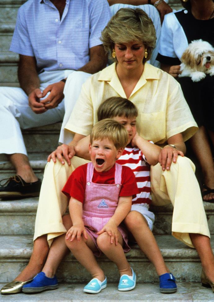A parenting moment with Diana, William and Harry