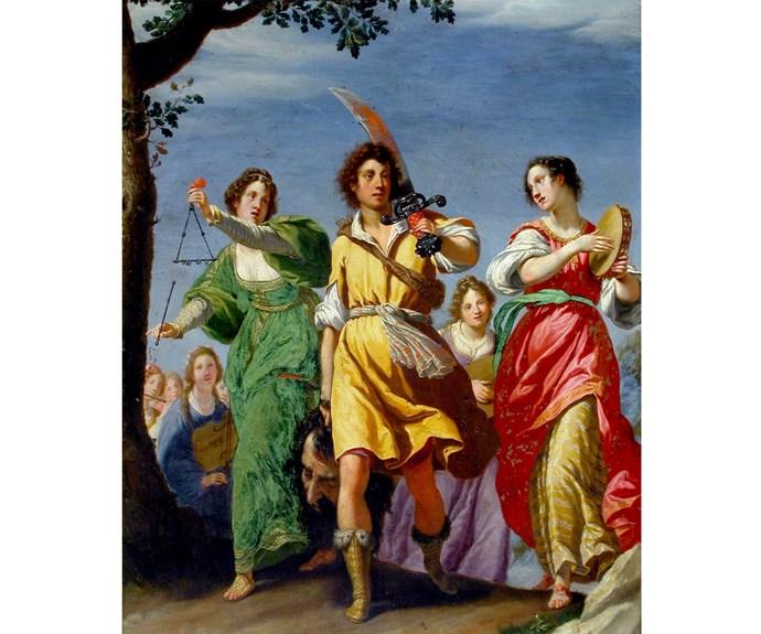 Matteo Rosselli, The Triumph of David 1610, oil on copper, Florence, Galleria Corsini.