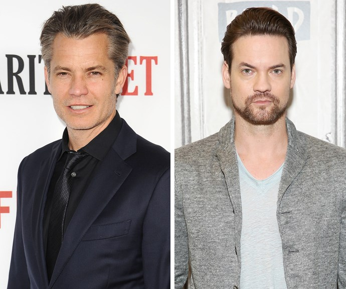 Timothy Olyphant (left) and Shane West (right) share similar facial features - and of course, both are tall, dark and handsome!