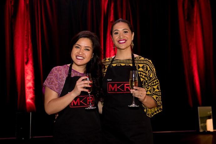 Contestants Tash and Hera from Rotorua.