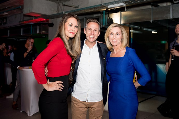 TVNZ presenters Renee Wright and Wendy Petrie with Dean Buchanan.