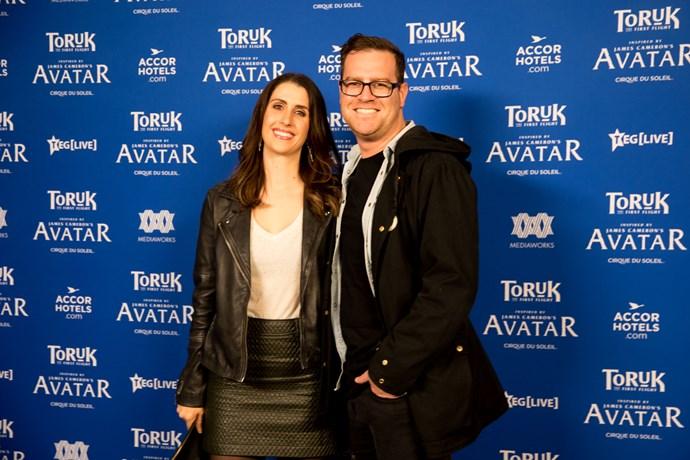 TV presenter and radio host Nadine Higgins with her husband Dan.