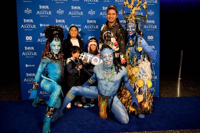 Huia, Jarod Rawiri, Iarere andTe Marino with Toruk performers.