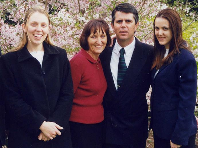 """Laurell and Ross with the future leader and [her sister Louise](http://www.nowtolove.co.nz/lifestyle/weddings/jacinda-ardern-on-her-sisters-wedding-day-surprise-33666