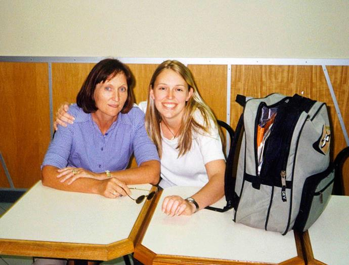 Jacinda, aged 21, with her mum just before leaving for Arizona State University.