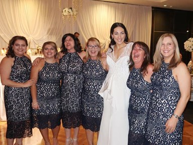 Six women wore exactly the same dress to wedding