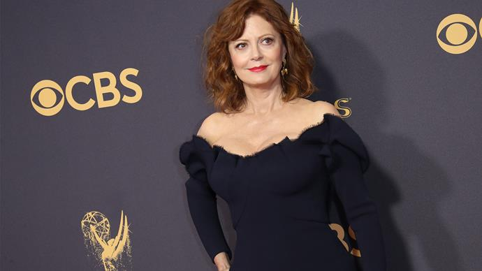 Susan Sarandon on the Emmy Awards red carpet