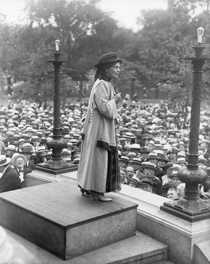 Hilary Barry's suffragette great-great-great aunt Emmeline Pankhurst.