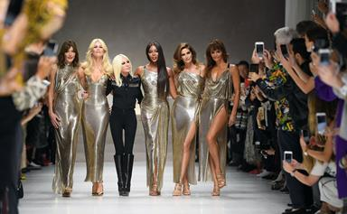 Versace pays tribute to Gianni by reuniting '90s supermodels at Milan Fashion Week