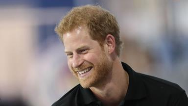 Prince Harry can't hide his excitement ahead of his first public appearance with Meghan Markle