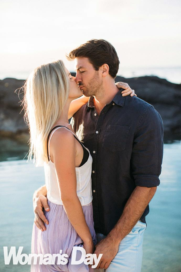 "Sealed with a kiss! The Bachelor chose to pop the question in Rarotonga. ""It's very special to us,"" explains Art."