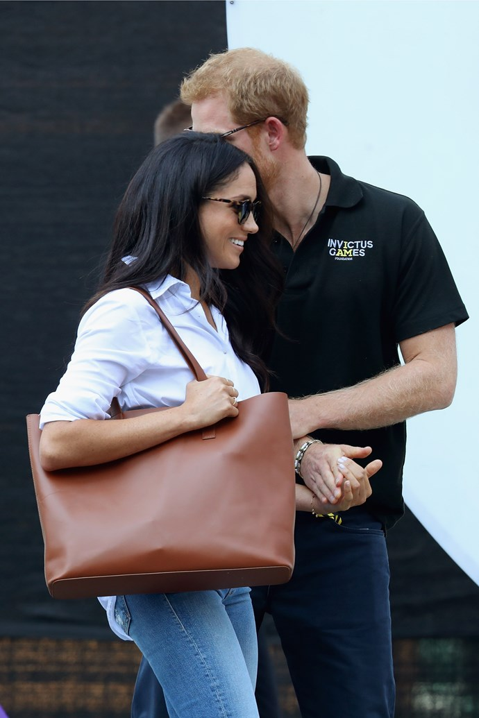 Harry shows how protective of Meghan he has become.