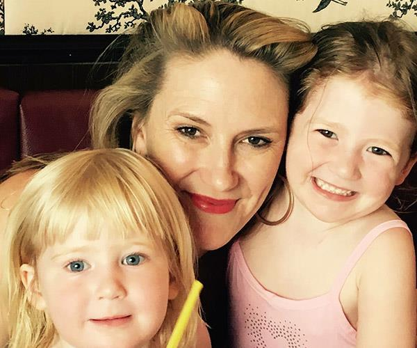 Caitlin with her daughters Lilith and Willow before her diagnosis.