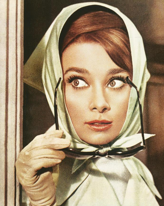 Hepburn in Charade, 1963.