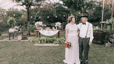 Couple renews their wedding vows after 60 years together