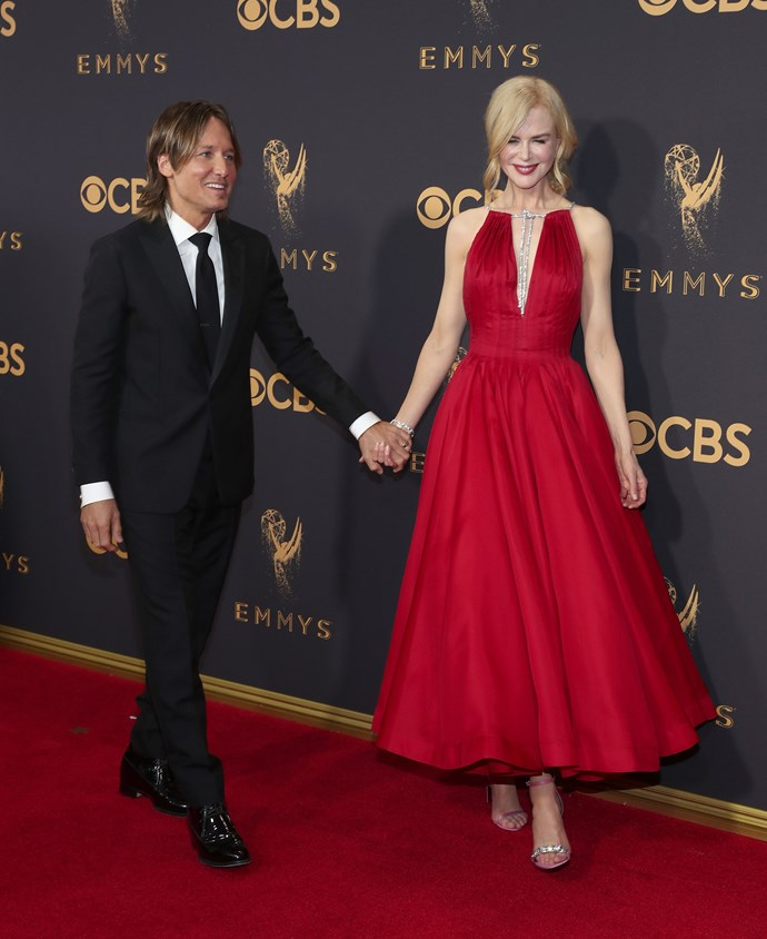 Nicole and her husband Keith Urban at the 69th Annual Primetime Emmy Awards.