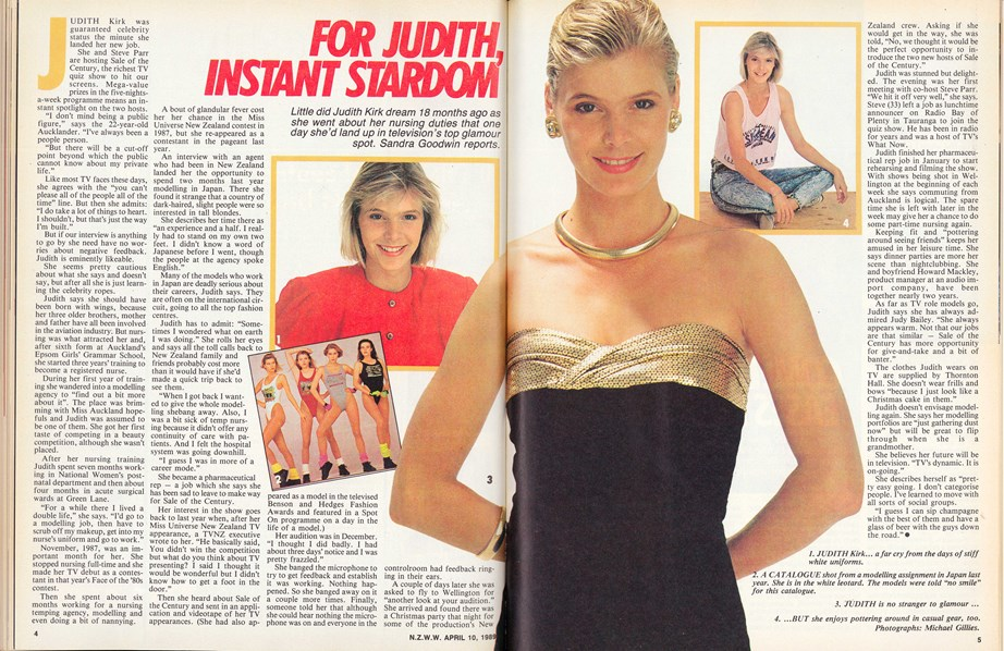 Jude in her very first story for the Weekly in April 10, 1989.