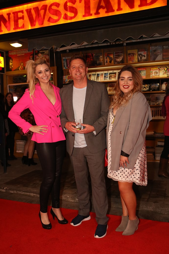 Erin Simpson, Michael Galvin and friend.