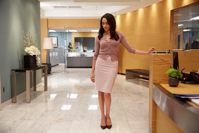Meghan plays character Rachel Zane on the hit series *Suits*.