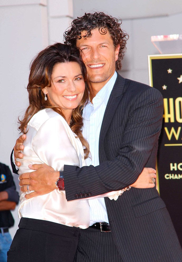 Shania with her current husband Fred.