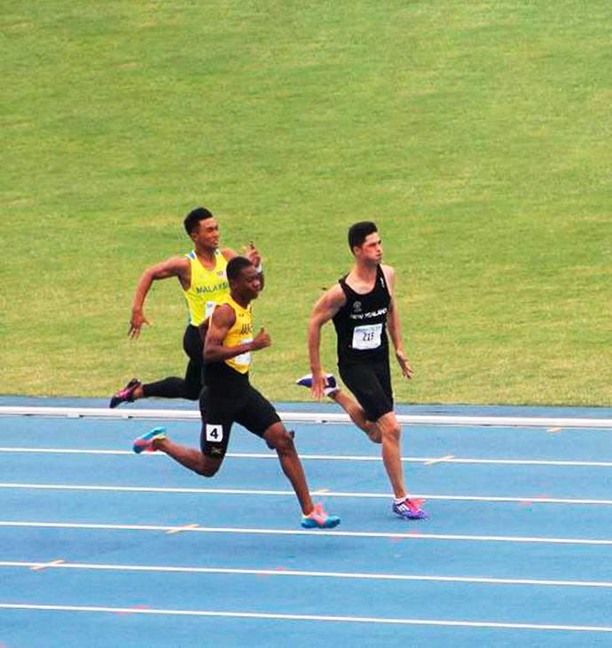 Competing at the Commonwealth Youth Games.