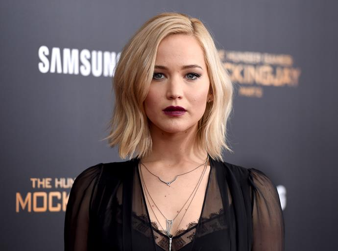 Jennifer Lawrence says she was told to stand in a naked line-up with five other women.