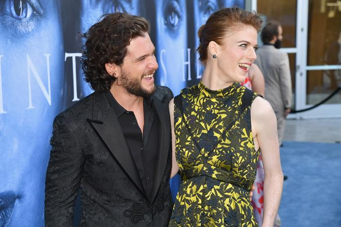 Kit Harrington and his fiance and onscreen lover, Rose Leslie