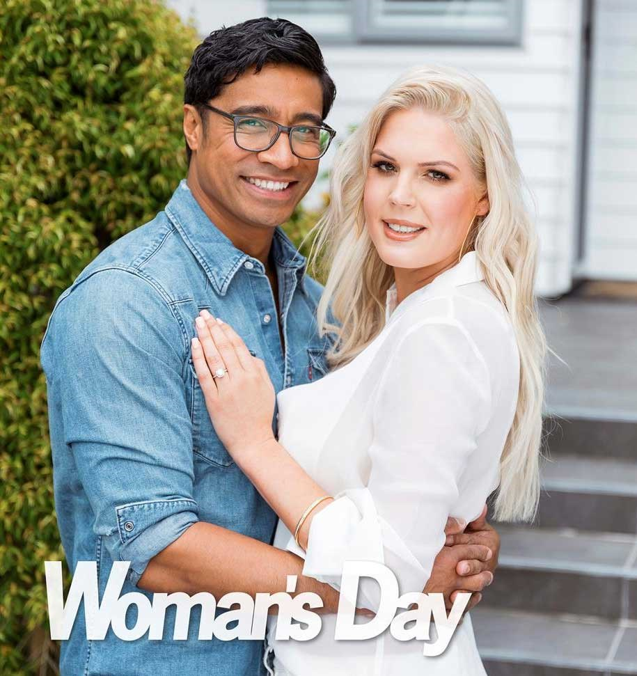 Pua Magasiva and fiancee Lizz Sadler.