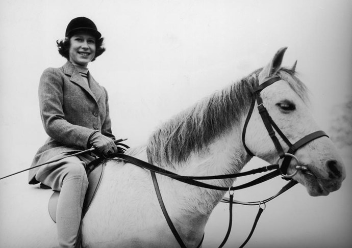 Pictured here in 1940, the Queen has always been an avid horse rider.
