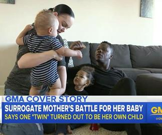 Surrogate mum gives birth to twins then discovers one of the babies is biologically hers