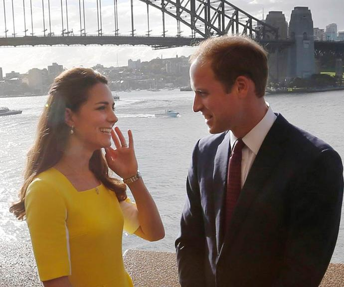 We adore this quiet moment between the pair during their first royal tour of Australia in 2014. William may have been in stunning Sydney Harbour, but he only had eyes for Catherine.
